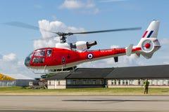Ehemaliger Gazelle Royal Air Forces RAF Aerospatiale SA-341D HT 3 G-CBSK Lizenzfreies Stockfoto