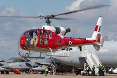 Ehemaliger Gazelle Royal Air Forces RAF Aerospatiale SA-341D HT 3 G-CBSK Lizenzfreies Stockbild