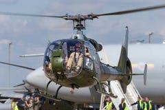 Ehemaliger königlicher Gazelle Aerospatiale SA-341C der Marineköniglichen marine HT 2 Hubschrauber G-ZZLE Stockfotografie