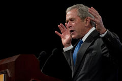 Ehemaliger Präsident George W. Bush Stockbilder