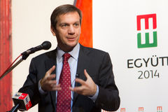 Ehemaliger Premierminister von Ungarn, Herr Gordon Bajnai Stockbilder