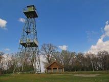 Ehemaliger Uhrkontrollturm, Österreich stockbild