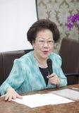 Ehemaliger Vizepräsident Taiwans, Annette Lu Stockbild