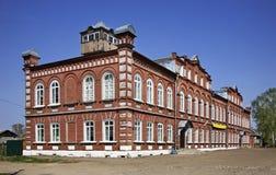 Ehemaliges Gebäude des Gemeinderats in Kalyazin Russland lizenzfreie stockfotos