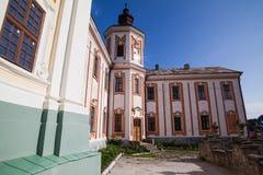 Ehemaliges Jesuit-Kloster und Priesterseminar, Kremenets, Ukraine Stockbilder