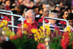 Ehemaliges P.M. Lee Kuan Yew an NDP 2012 Lizenzfreies Stockfoto