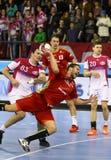EHF拥护同盟手球比赛马达v Veszprem 免版税图库摄影