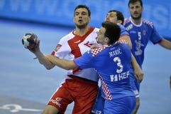 EHF欧元2016年波兰克罗地亚 库存照片