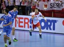 EHF欧元2016年波兰克罗地亚 库存图片