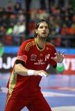 EHF Champions League Handball game Motor v Veszprem Royalty Free Stock Images