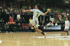 EHF Def. van cl - Viborg HK versus Györ Royalty-vrije Stock Foto's
