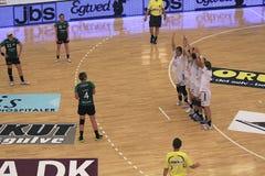 EHF Def. van het Champions League - Viborg HK versus Györ Royalty-vrije Stock Foto's