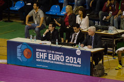 EHF EURO 2014 judges Royalty Free Stock Photo