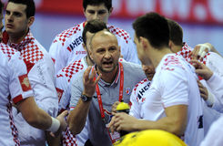 EHF euro 2016 Chorwacja Macedonia Fotografia Stock