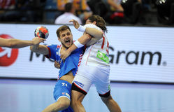 EHF EURO 2016 Croatia Norway Stock Photo