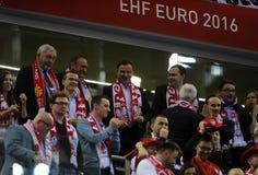EHF EURO 2016 France Macedonia Royalty Free Stock Images