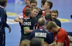Ehf-EURO Frankreich 2016 Norwegen Lizenzfreie Stockbilder
