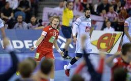 EHF EURO 2016 Frankrijk Noorwegen Royalty-vrije Stock Afbeeldingen