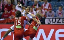 EHF EURO 2016 Frankrijk Noorwegen Royalty-vrije Stock Foto's