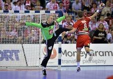 EHF EURO 2016 Frankrijk Noorwegen Stock Foto