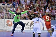 EHF EURO 2016 Frankrijk Noorwegen Stock Afbeeldingen