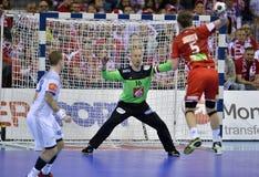 EHF EURO 2016 Frankrijk Noorwegen Stock Foto's