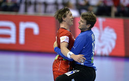 EHF EURO 2016 Frankrijk Noorwegen Stock Afbeelding
