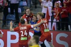 EHF EURO 2016 Frankrijk Noorwegen Royalty-vrije Stock Foto