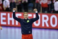 EHF EURO 2016 Frankrijk Noorwegen Royalty-vrije Stock Afbeelding