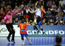 EHF EURO 2016 Germany Spain Final Royalty Free Stock Image