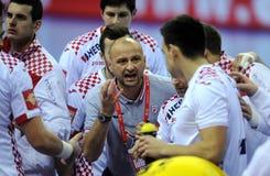 EHF EURO 2016 Kroatië Macedonië Stock Fotografie