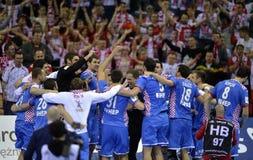 EHF EURO 2016 Poland Croatia Stock Photos