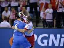 EHF EURO 2016 Poland Croatia Royalty Free Stock Photos