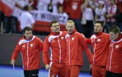 EHF EURO 2016 Polen Kroatië Stock Afbeeldingen