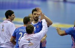 Ehf-EURO Polen 2016 Kroatien Stockfotos