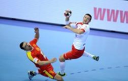 EHF EURO 2016 Polen Macedonië Royalty-vrije Stock Foto's