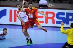 EHF EURO 2016 Polen Macedonië Royalty-vrije Stock Foto