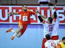 EHF EURO 2016 Polen Macedonië Royalty-vrije Stock Fotografie