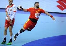 EHF EURO 2016 Polen Macedonië Royalty-vrije Stock Afbeeldingen