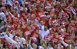 EHF euro 2016 Polska Chorwacja Obrazy Stock