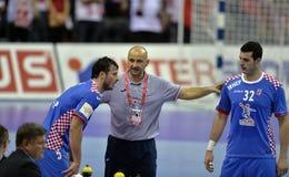 EHF euro 2016 Polska Chorwacja Obrazy Royalty Free