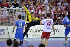 EHF euro 2016 Polska Chorwacja Fotografia Royalty Free