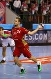 EHF van het het Handbalspel van de Kampioenenliga Motor v Veszprem royalty-vrije stock afbeelding
