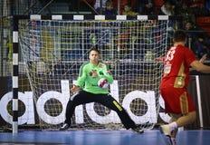 EHF van het het Handbalspel van de Kampioenenliga Motor v Veszprem royalty-vrije stock foto's