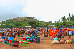 Ehiopian Market. Market in Key Afar, Southern Ethiopia Stock Images