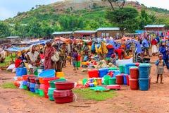 Ehiopian Market. Market in Key Afar, Southern Ethiopia Stock Image