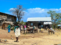Ehiopian village. Good situated village in Northern Ethiopia Stock Photo