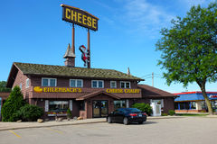 Ehlenbachs Cheese Chalet. DeFOREST, WISCONSIN - JUNE 21, 2017: Ehlenbachs Cheese Chalet. Family owned for over 40 years the shop features over 250 different Stock Photo