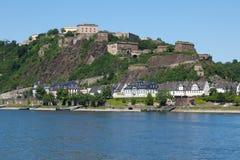 ehrenbreitstein forteca Obraz Stock
