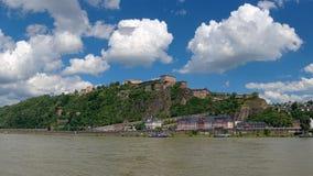 Ehrenbreitstein Fortress in Koblenz, Germany royalty free stock photo